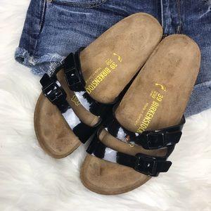 a4bfed8f06b1 Birkenstock Shoes - Birkenstock Ibiza Slide Sandals Black Patent sz 39